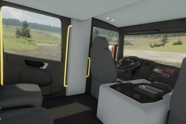 eXpanSIM Fire Truck interior