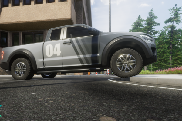 eXpanSIM_pickup_tire_deflection_on_curb